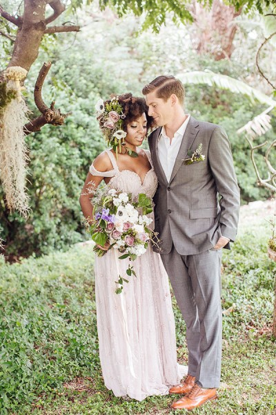 Whimsical Enchanted Forest Wedding Dream On Soft Beds Of Green | Photograph by What a Day! Photography