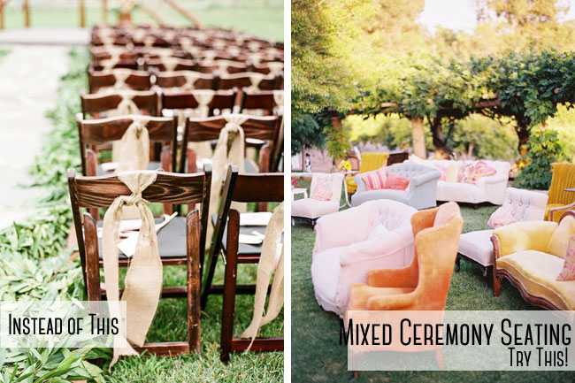 Mixed Furniture Ceremony Seating