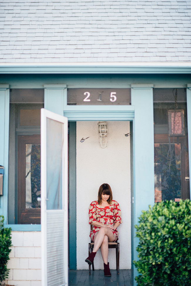 Unique New Mexico Neighborhood Engagement Session | Photograph by Loren & Chris Photography  https://storyboardwedding.com/new-mexico-neighborhood-engagement-session/