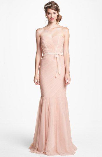 Soft Romantic Corset Bridesmaid Dress
