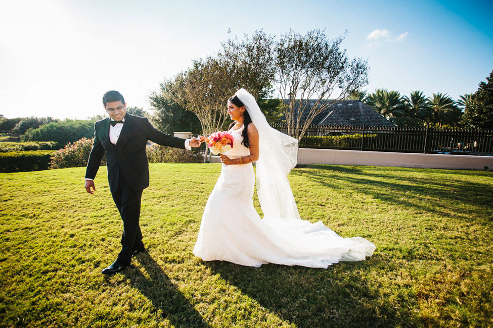 Nouveau Indian Christian Houston Wedding In Mixed Pinks & Crystals | Photograph by Esvy Photography  http://storyboardwedding.com/indian-christian-houston-wedding/