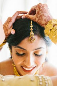 Nouveau Indian Christian Houston Wedding In Mixed Pinks & Crys...