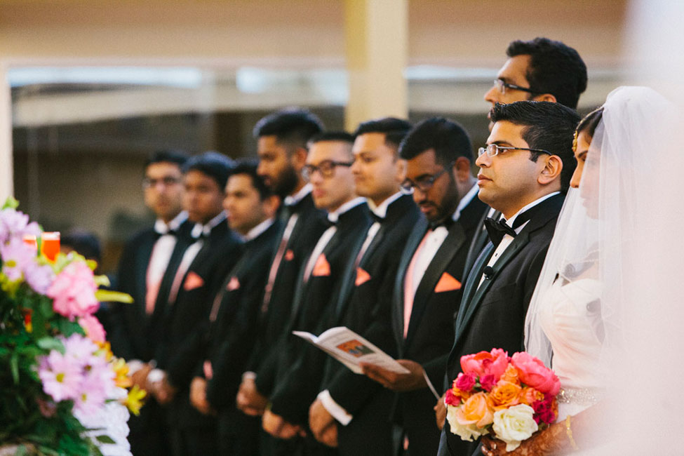 Nouveau Indian Christian Houston Wedding In Mixed Pinks & Crystals | Photograph by Esvy Photography  https://storyboardwedding.com/indian-christian-houston-wedding/