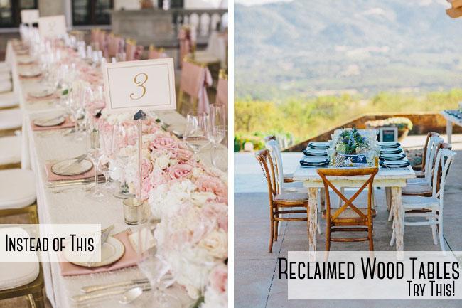 Wood Wedding Tables
