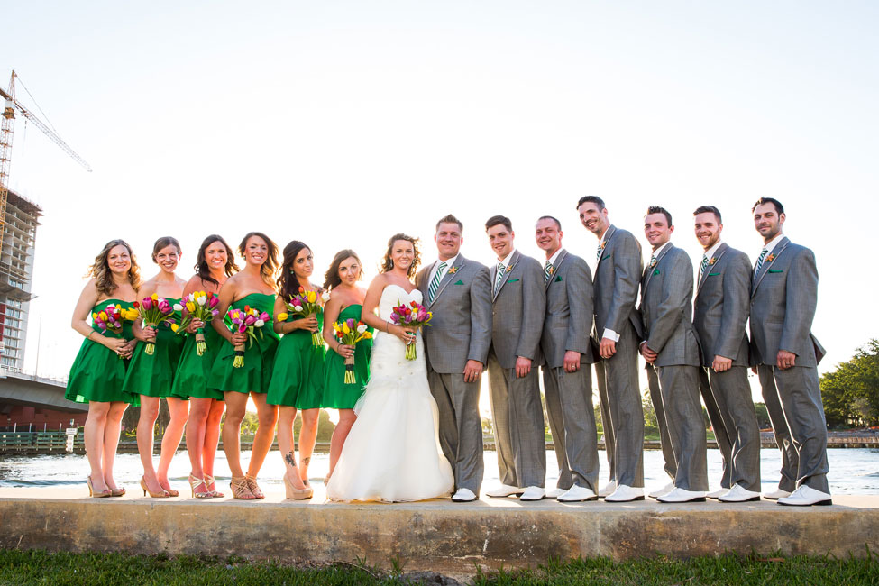 Hollywood Beach Florida Wedding Infused With Irish Beach Spirit | Photograph by Ricky Stern Photography  http://storyboardwedding.com/hollywood-beach-florida-wedding-irish-beach/