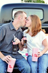 Silvermoon Drive In Movie Engagement Session In Lakeland Florida