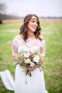 Eco-Friendly Wedding At Nashville's Sam Davis Home With Vintage Boho F...