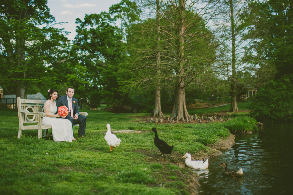 Southern Elegance At This Sunset Inspired North Carolina Graylyn Estate Wedding | Photograph by Carolyn Scott Photography  http://storyboardwedding.com/southern-elegance-north-carolina-graylyn-estate-wedding