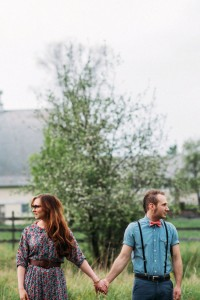 Hipster Vibed Pasture Engagement Session With An Indie Twist