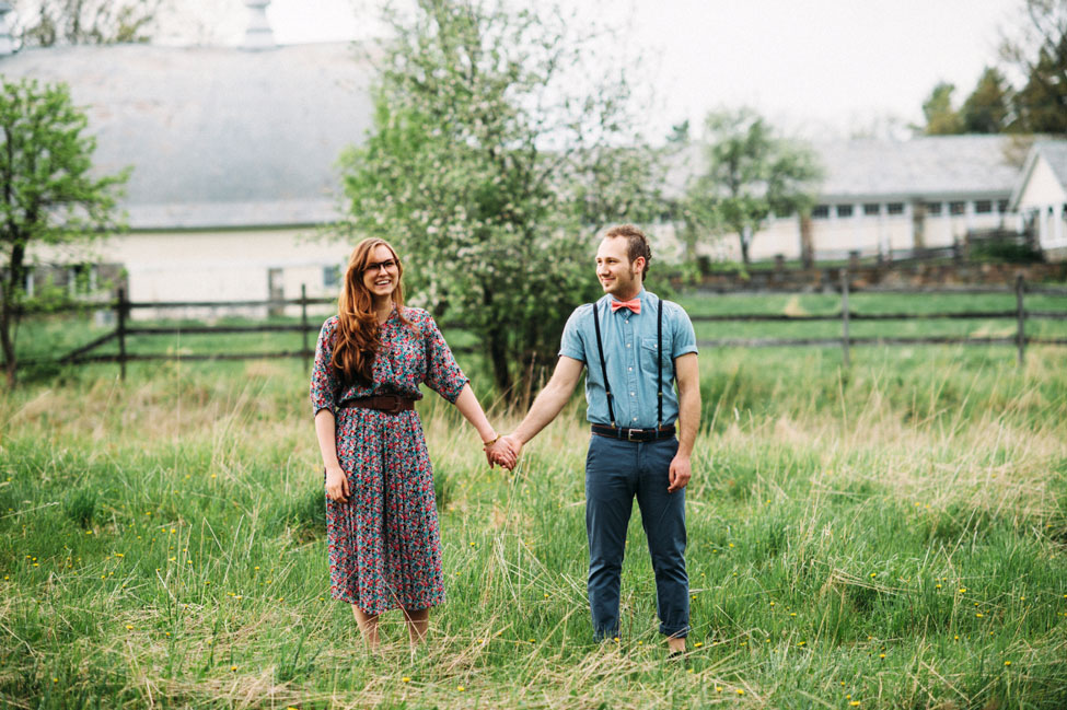 Hipster Vibed Pasture Engagement Session With An Indie Twist | Photograph by Jessica Oh Photography  https://storyboardwedding.com/hipster-pasture-engagement-session-indie/