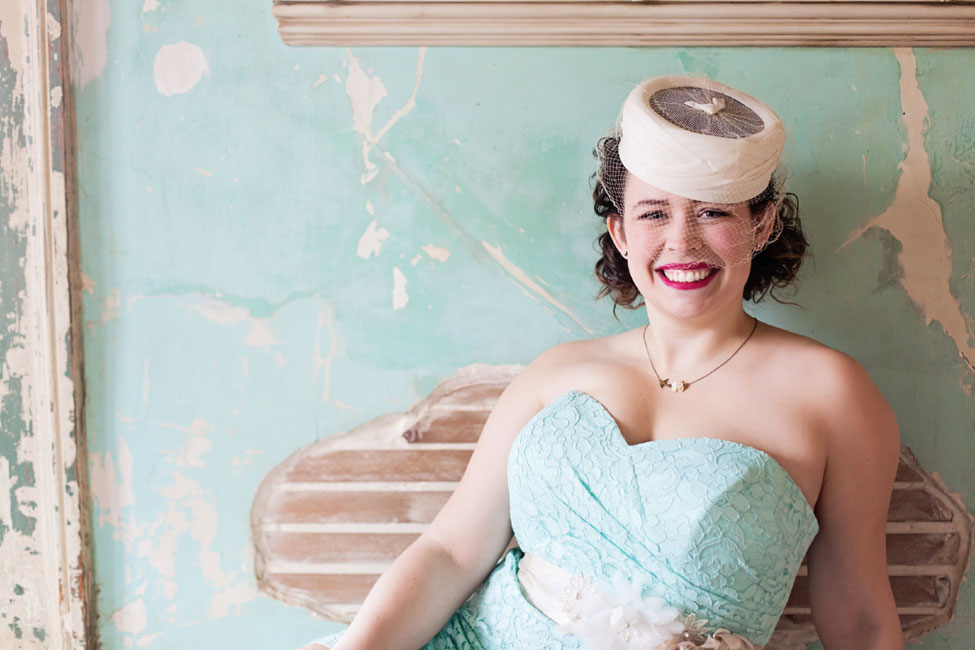 The Retro Bride With Romantic Infusion & Flirty Attitude | Photograph by Nicole Ryan Photography  https://storyboardwedding.com/retro-bride-romantic-infusion-flirty-attitude/