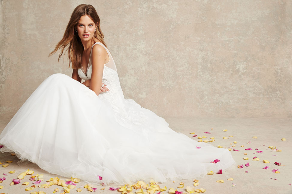 Bliss monique lhuillier spring 2015 collection for Price of monique lhuillier wedding dresses