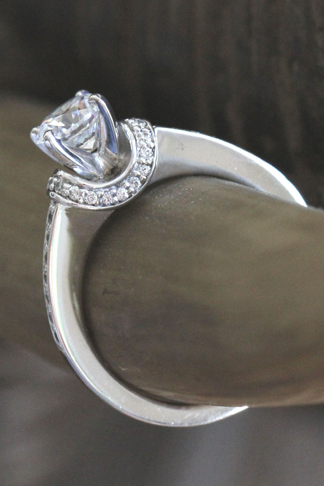 Encrusted Curve Set Diamond Engagement Ring Fascinating Diamonds | Storyboard Wedding