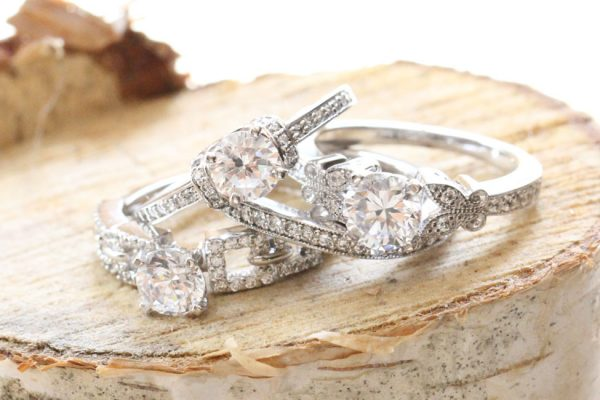 Fascinating Diamonds Pave Engagement Rings Group 2