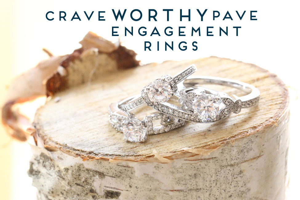 Fascinating Diamonds Pave Diamond Engagement Rings | Storyboard Wedding