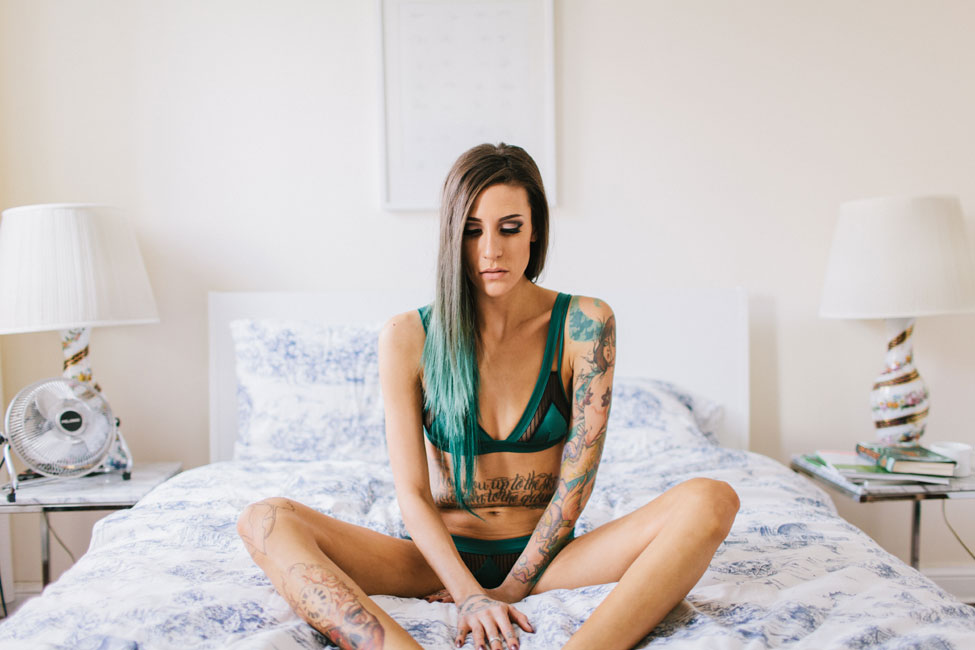 Boudoir As You Have Never Seen, Raw, Real & Gorgeously At Ease | Photograph by Socks and a Smile  https://storyboardwedding.com/boudoir-at-home-ease/