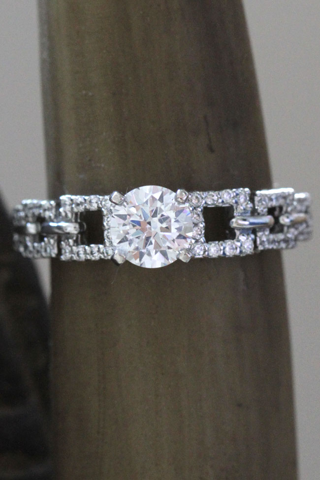 Interlinked Square Set Diamond Engagement Ring Fascinating Diamonds | Storyboard Wedding