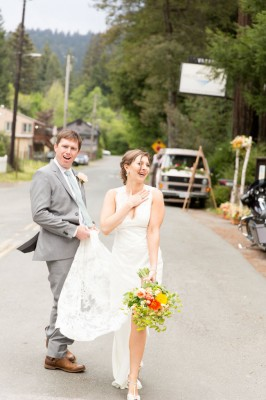 Monte Rio California Intimate Outdoor Meadow Wedding With Major Spunk | Photograph by Robin Jolin Photography   http://storyboardwedding.com/monte-rio-california-intimate-outdoor-meadow-wedding/