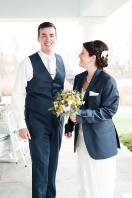 Classic New London Connecticut Wedding With Spring Rains In Navy & Yellow | Photograph by Robyn Blasi Photography  http://storyboardwedding.com/classic-new-london-connecticut-wedding/