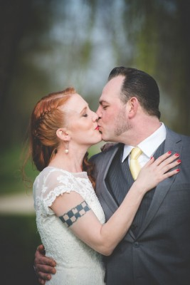 Retro Inspired Musical Wedding With Rockabilly Flair | Photograph by B & G Productions Photography and Videography  http://storyboardwedding.com/retro-inspired-musical-wedding-rockabilly-flair/