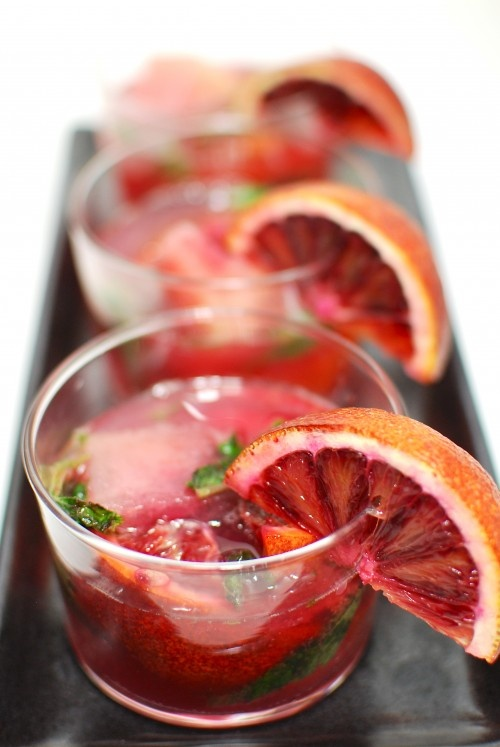 San Pellegrino Bloody Orange Mojito