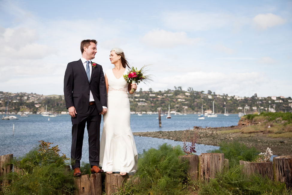 Backyard Style Eclectic Modern Wedding At Sausalito