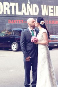 Wonderfully Cool Offbeat Portland Wedding At Voodoo Doughnut