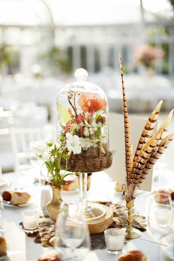 Brooklyn Botanical Garden Tall Terrarium Centerpiece Rebecca Shepherd Floral Design
