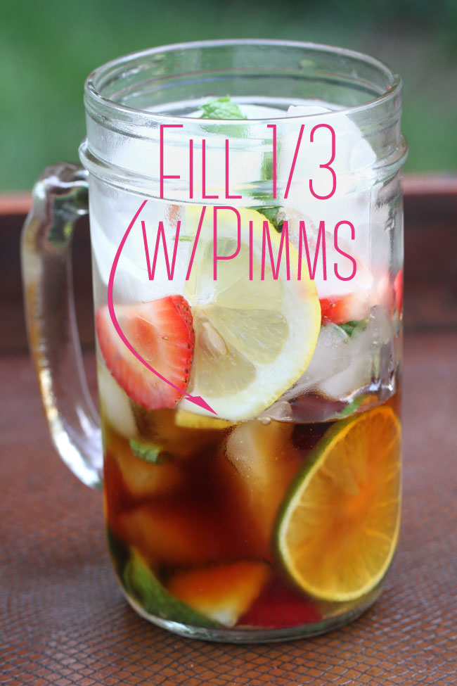 Classic Pimms Cup Recipe Specialty Cocktail Storyboard Wedding Fill Text