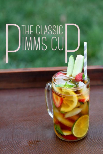 Classic Pimms Cup Recipe Specialty Cocktail Storyboard Wedding Lead Shot Text