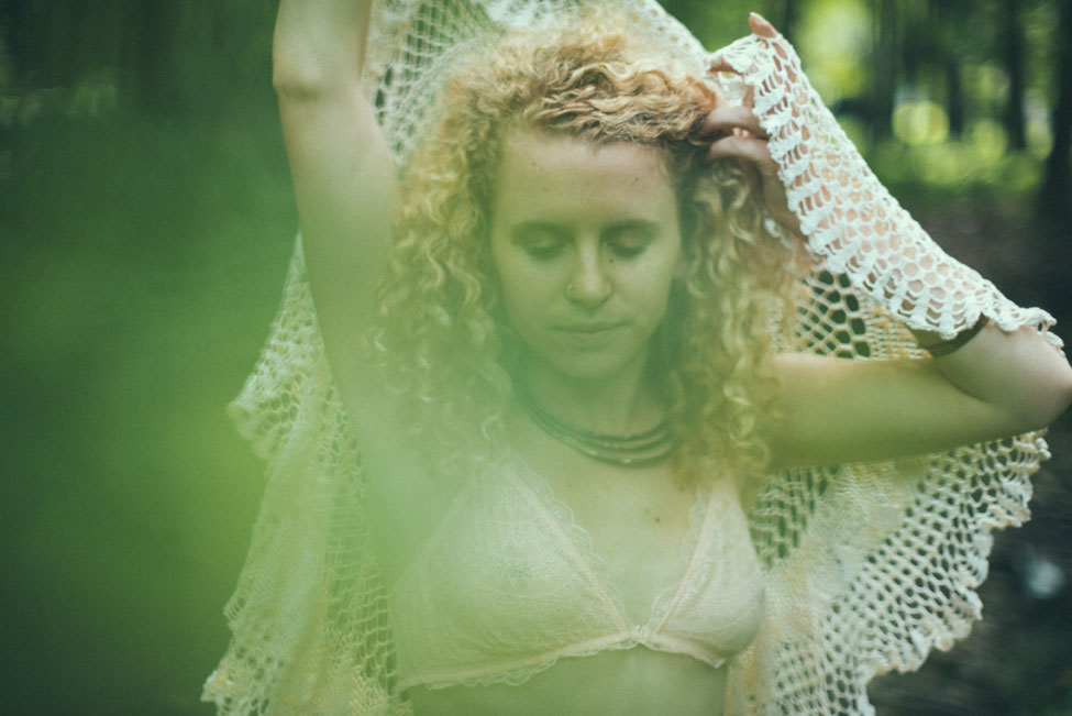 Earthly Goddess Outdoor Boudoir Session In The Secret Forest | Photograph by Cheyenne Gil Photography  https://storyboardwedding.com/earthly-goddess-outdoor-boudoir/