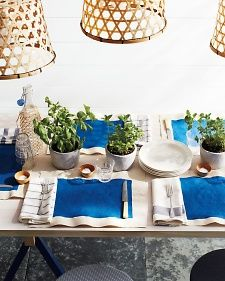 Indigo Organic Tablescape Early Fall Wedding Martha Stewart Ryan Liebe 1