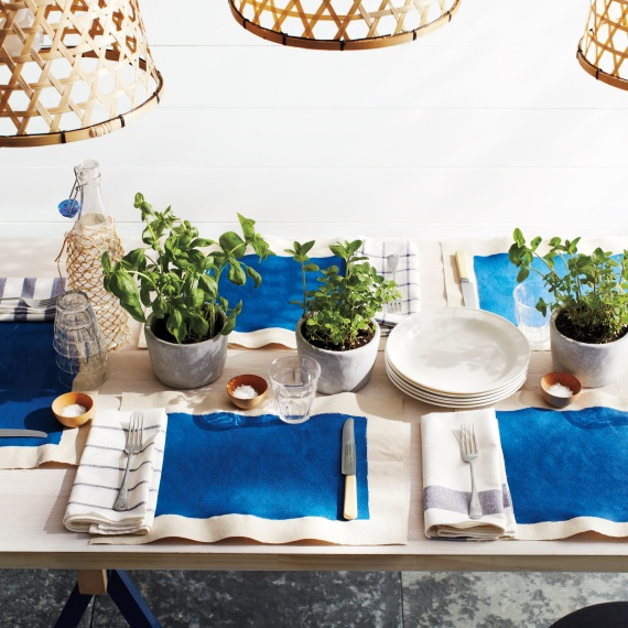 Indigo Organic Tablescape Early Fall Wedding Martha Stewart Ryan Liebe