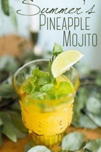 Tart & Sweet Pineapple Mojito Summer Specialty Cocktail Recipe