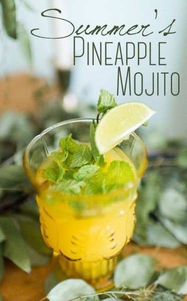 Pineapple Mojito Summer Cocktail Lauren W Photography