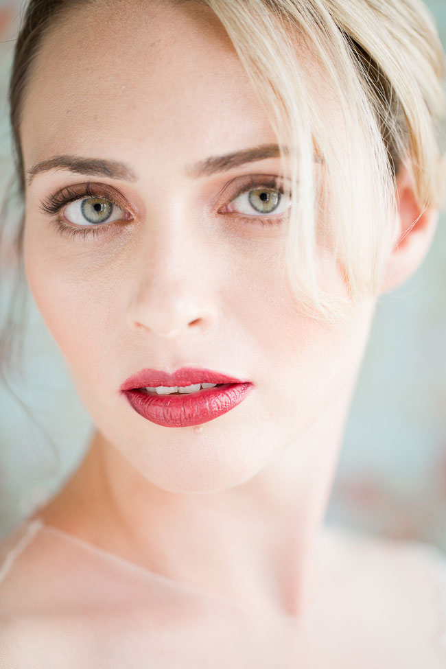 Berry Lip Bridal Makeup Beauty by Eden Di Bianco Melissa Kruse Photography Deep Berry Lip 1