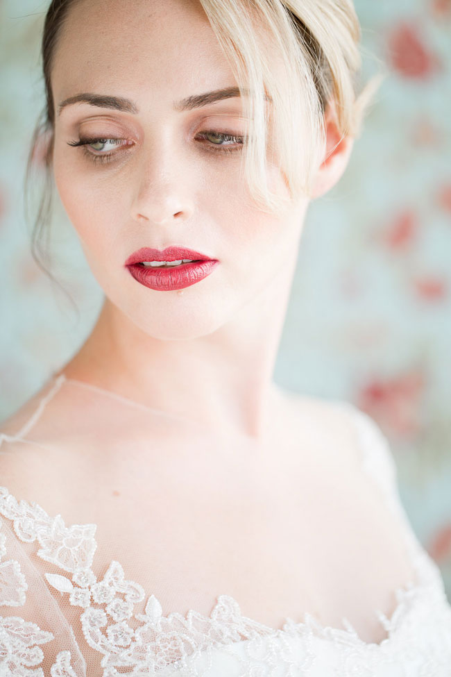 Berry Lip Bridal Makeup Beauty by Eden Di Bianco Melissa Kruse Photography Deep Berry Lip