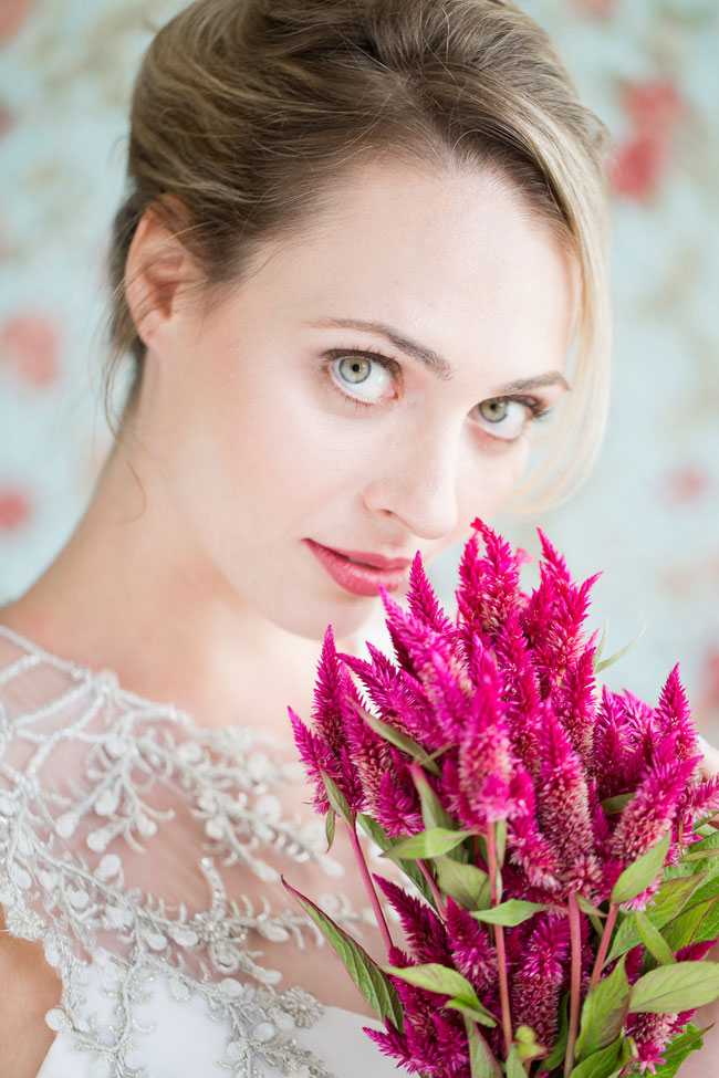 Berry Lip Bridal Makeup Beauty by Eden Di Bianco Melissa Kruse Photography Gloss Berry Lip
