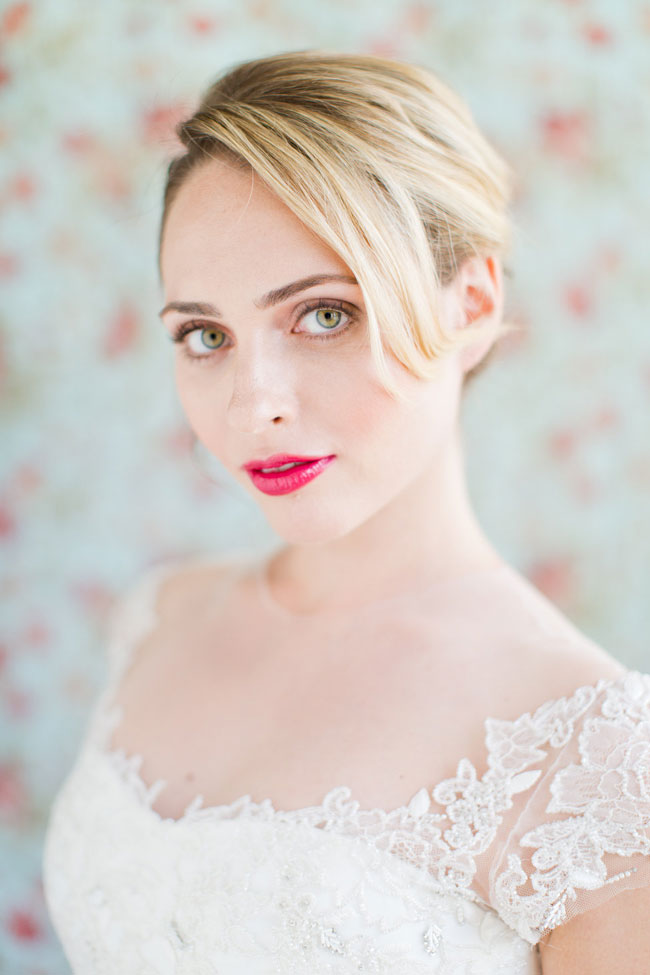 Berry Lip Bridal Makeup Beauty by Eden Di Bianco Melissa Kruse Photography Mattee Berry Lip