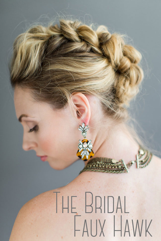 Bridal Faux Hawk Eden Di Bianco Melissa Kruse Photography