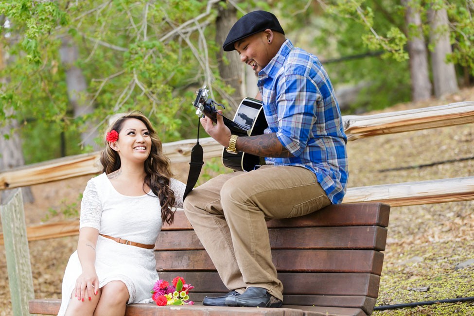 Music Infused Cherry Blossom Engagement Shoot | Photograph by Matt and Jentry  http://storyboardwedding.com/music-infused-cherry-blossom-engagement-shoot/