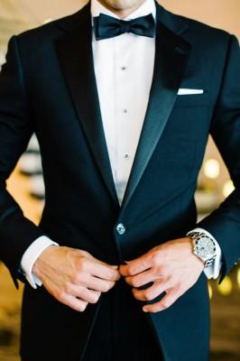 Formal Tuxedo Groom Detail