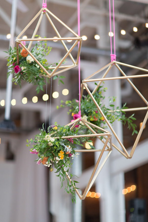 Geometeric Hanging wedding decor Jessica Cooper Photography Ruffled