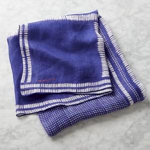 Indigo Gauze Linen Tablecloth 1