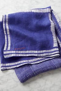Indigo Gauze Linen Tablecloth 1 v