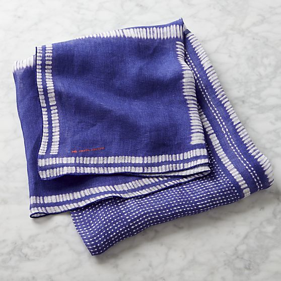 Indigo Gauze Linen Tablecloth 1