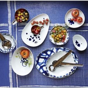 Indigo Gauze Linen Tablecloth