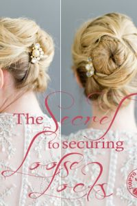 When Wedding Hair Breaks, The Secret To Securing Loose Locks Hairstyle...