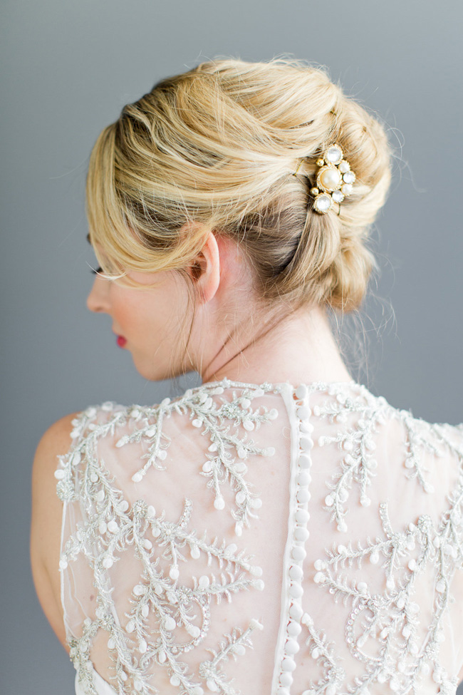 Securing Loose Textured Hairstyles Wedding Hair Beauty by Eden Di Bianco Melissa Kruse Photography (14)