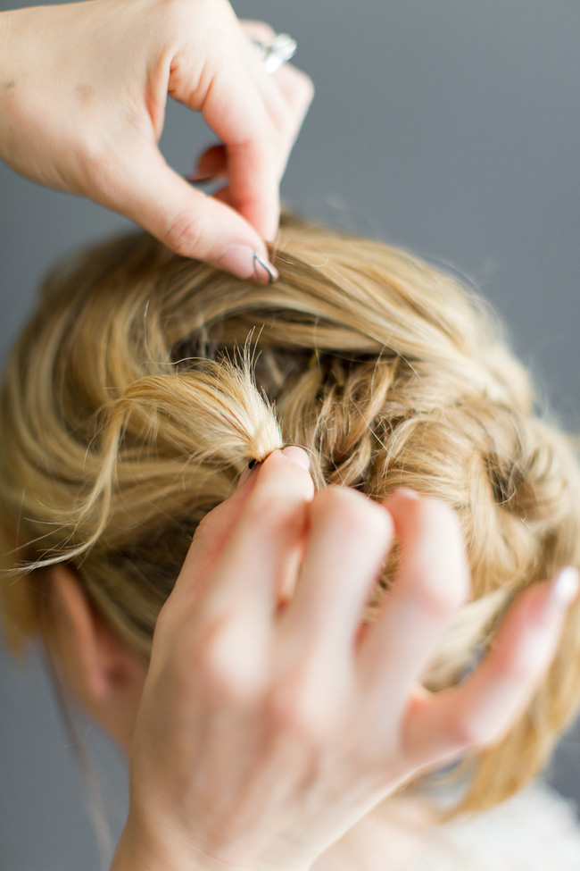 When Wedding Hair Breaks, The Secret To Securing Loose Locks Hairstyles